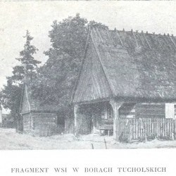 Fragment wsi Koślinka (dzisiaj część Tucholi) - te konkretne budynki stały przy dzisiejszej ul. Nowodworskiego