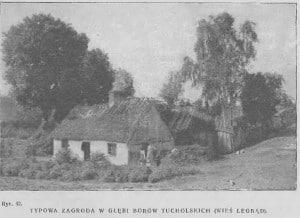 Typowa zagroda w Borach Tucholskich - Legbąd