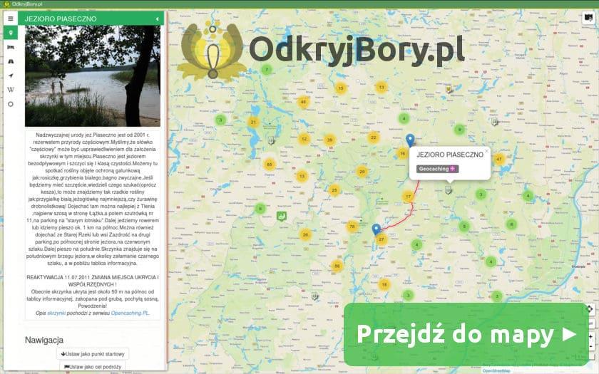Interaktywna mapa Borów Tucholskich