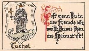 Św. Małgorzata na grafice z czasów pruskich
