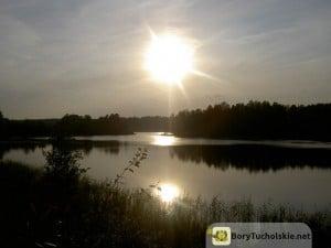 Zachód słońca w Borach Tucholskich - okolice Zalewu Koronowskiego