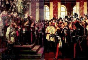 """""""Proklamacja Cesarstwa Niemieckiego"""" (obraz olejny, Anton von Werner, 1885)"""
