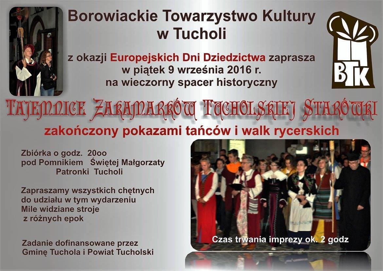 Tajemnice  zakamarków tucholskiej starówki – wieczorny spacer historyczny
