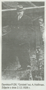 Dyrektor inż. A. Hoffman, rok 1928