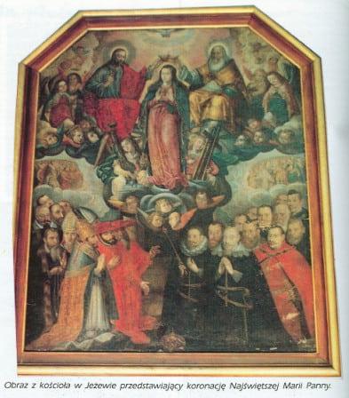 Obraz koronacji NMP w Jeżewie
