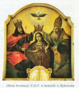 Obraz Koronacji Najświętszej Marii Panny w Rykowisku - fot. Korneliusz Konsek SVD