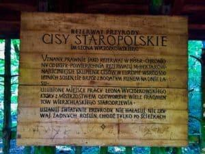 Tablica rezerwatu - fot. Adam Paluśkiewicz